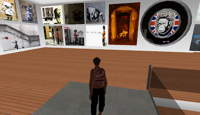 Banksy's Ghetto in Second Life - entrance hall