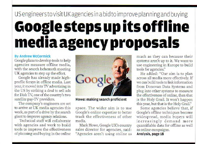 Google declare offline media agency proposals