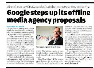 Google declare offline media agency proposals