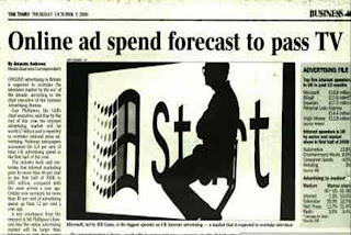 Times Online spend to overtake TV