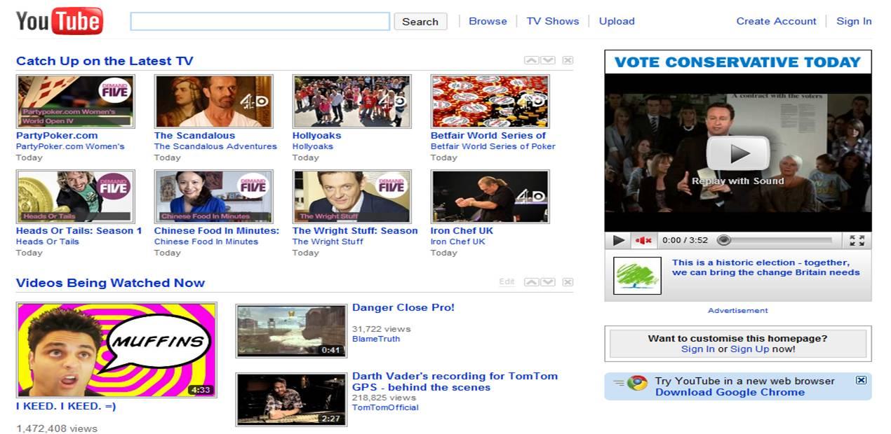 uk election homepages google bing facebook and youtube. Black Bedroom Furniture Sets. Home Design Ideas