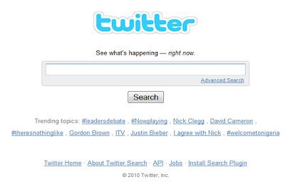 LeadersDebate Twitter Trends UK election 2010
