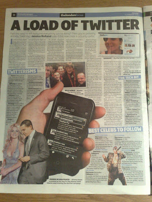 londonpaper Twitter feature