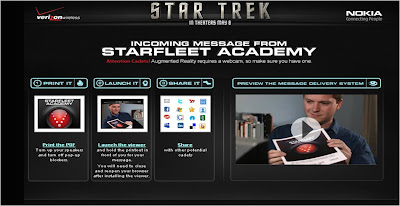 Join Starfleet Star Trek augmented reality