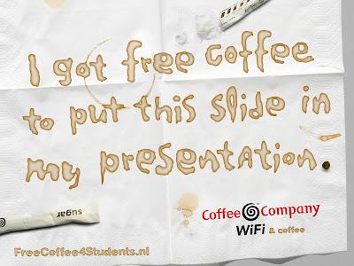 Coffee Company Free Coffee Powerpoint ad