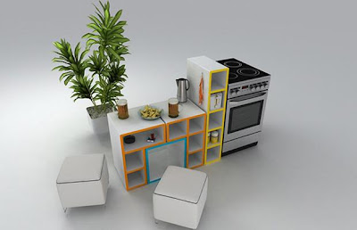 Tetris kitchen