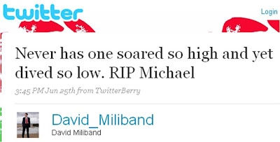 David Miliband Michael Jackson fake account