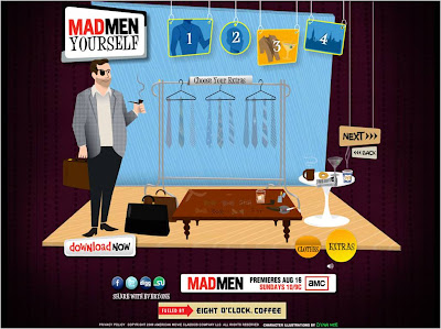 Mad Men Yourself choosing extras