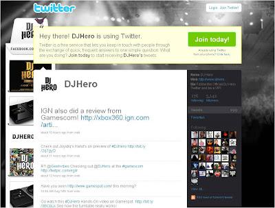 DJ Hero Twitter
