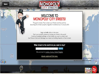 Monopoly City Streets welcome