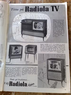 Ericsson Radiola TV ad 1957