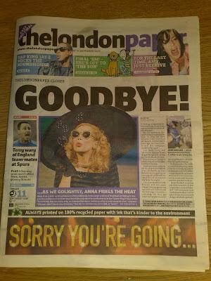 thelondonpaper Goodbye