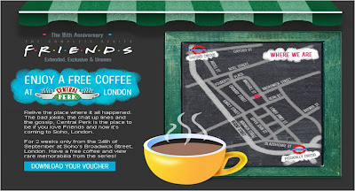 Friends Central Perk London website