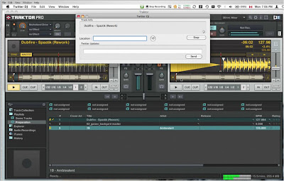 Twitter DJ application with TraktorPro