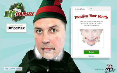 Elf Yourself 2009 - customising your Elf