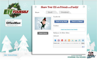 Elf Yourself 2009 - embedding options