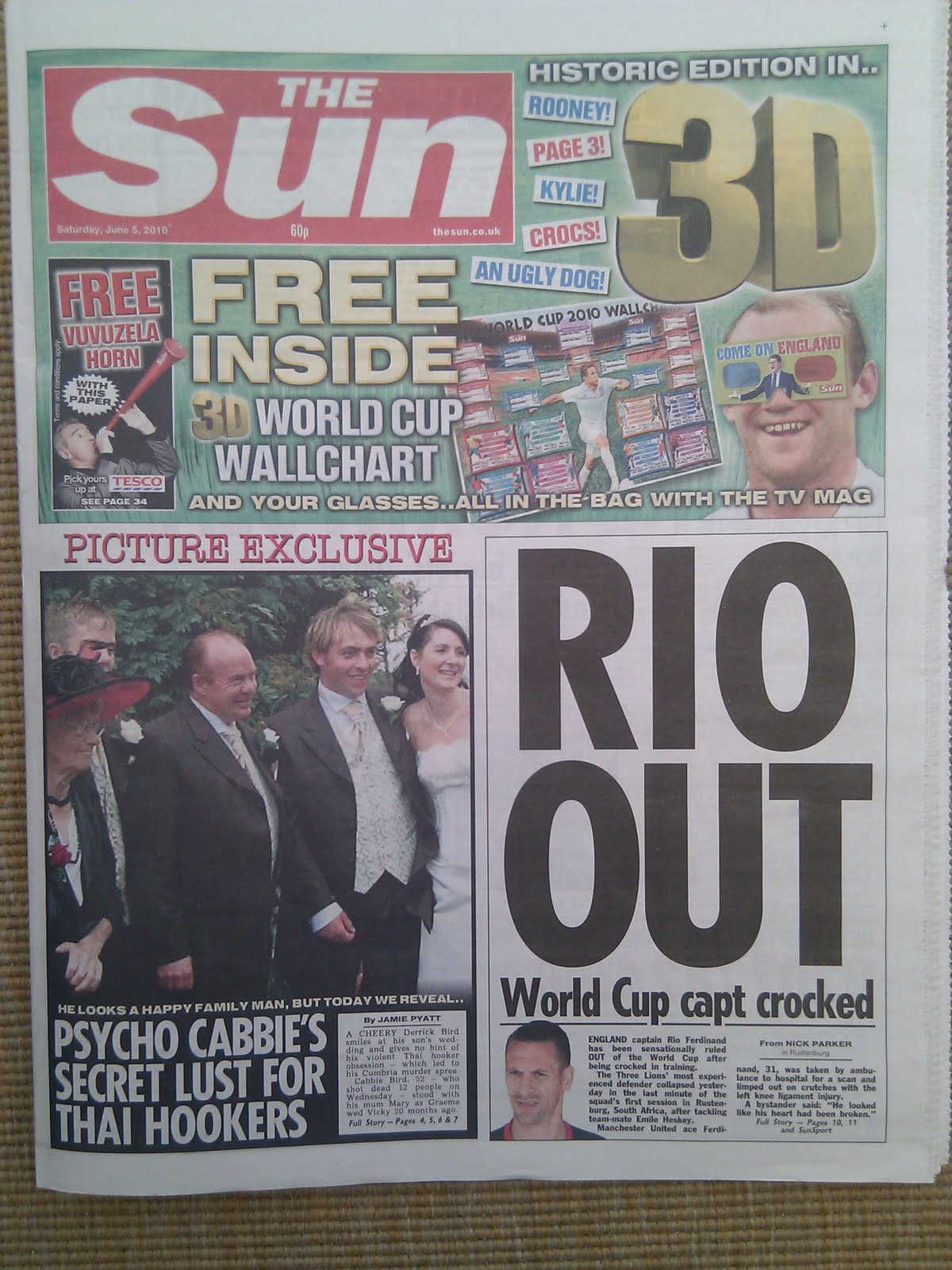 Page 3 the sun front page of today s 3d sun