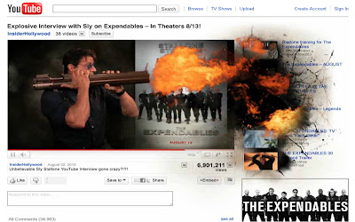 Expendables exploding YouTube channel
