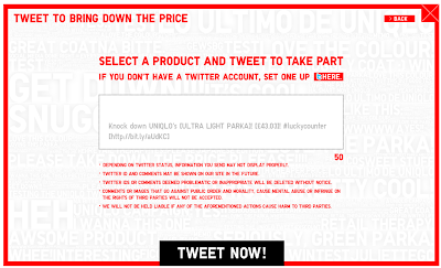 Uniqlo Lucky Counter tweet page