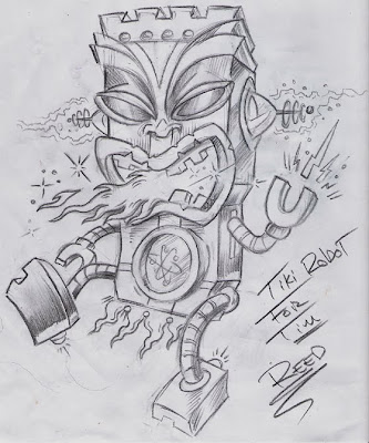above are a few Tiki sketch designs for tattoos.. Anyone that knows me knows