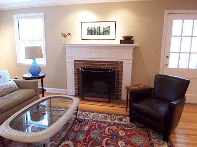 The House Had Just Been Painted Before The Clients Moved In, So We Left The  Bright White Trim And Ceilings. I Would Have Preferred A More Mellow Color  For ...