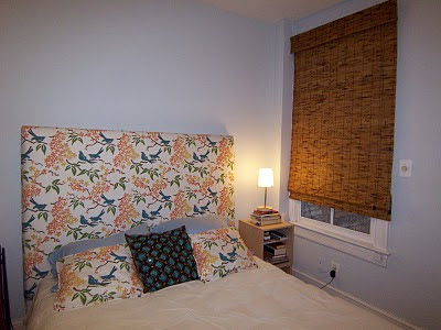 Galbraith & Paul headboard and Benjamin Moore's 1646 Lookout Point