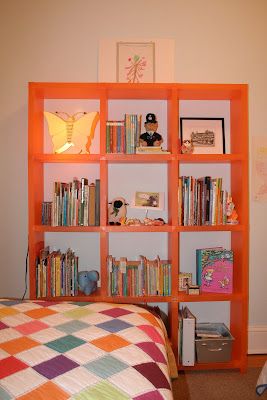 orange Cubitec shelving