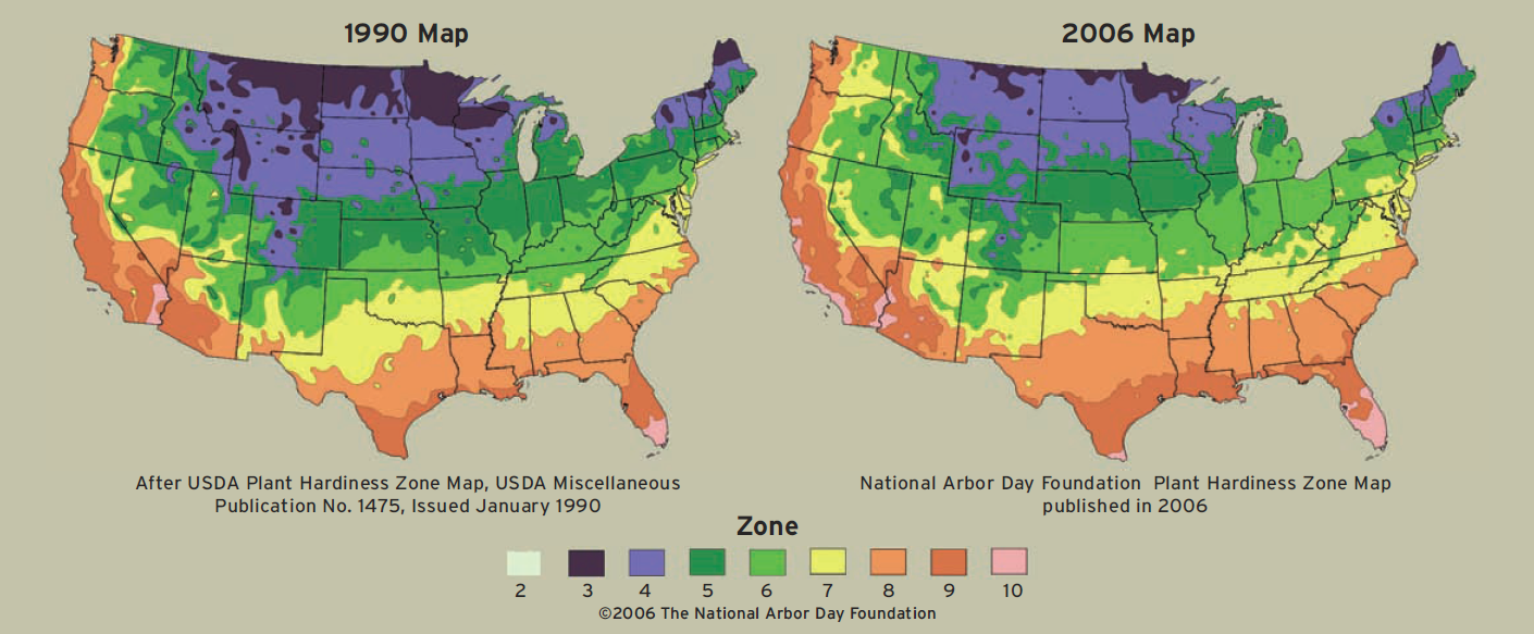 Climate Change Science Digest Global Warmings Impact On Allergy - Map of north america climate