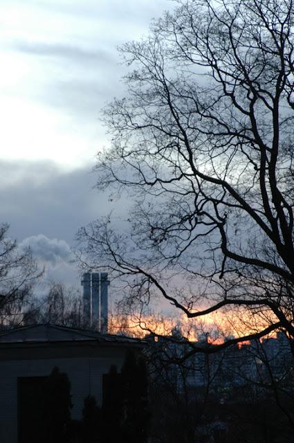 пылающий закат в Киеве