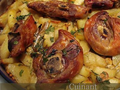 Cuinant cordero al horno con patatas - Chuletas de cordero al horno con patatas ...