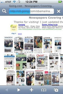 newspaper fronts
