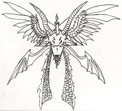 White Dragon Sigil Tattoo Design · tattoo designs Tattoo dragon head design