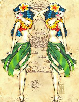 girl tattoos, tattoo designs, tattoos for girls, tattoo Hawaii girl