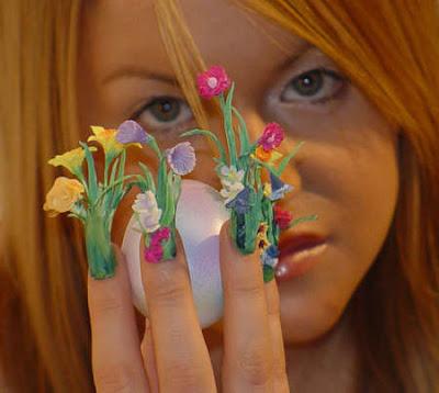 vegetal nail desaign