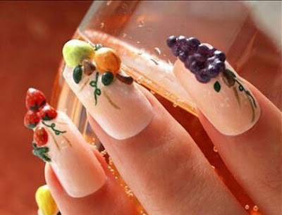fresh fruit nail arts