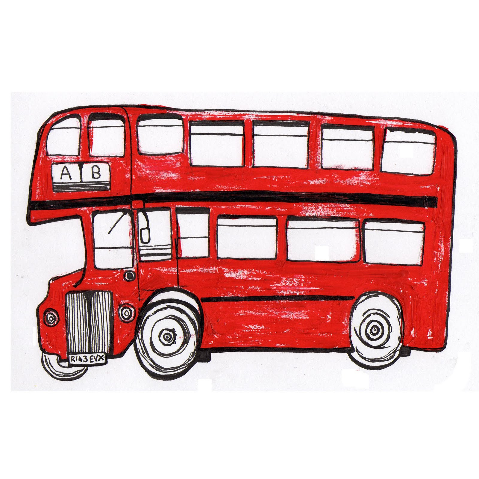 How To Draw Double Decker Bus