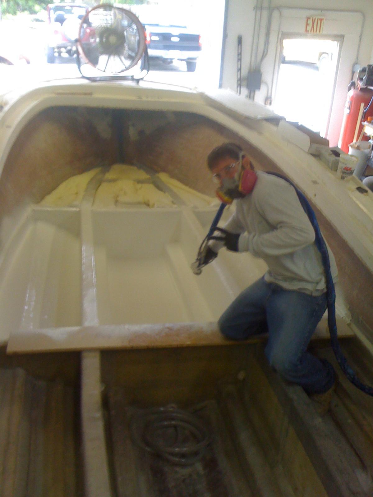 1981 23 Fish Nautique Restoration Decided To Gelcoat