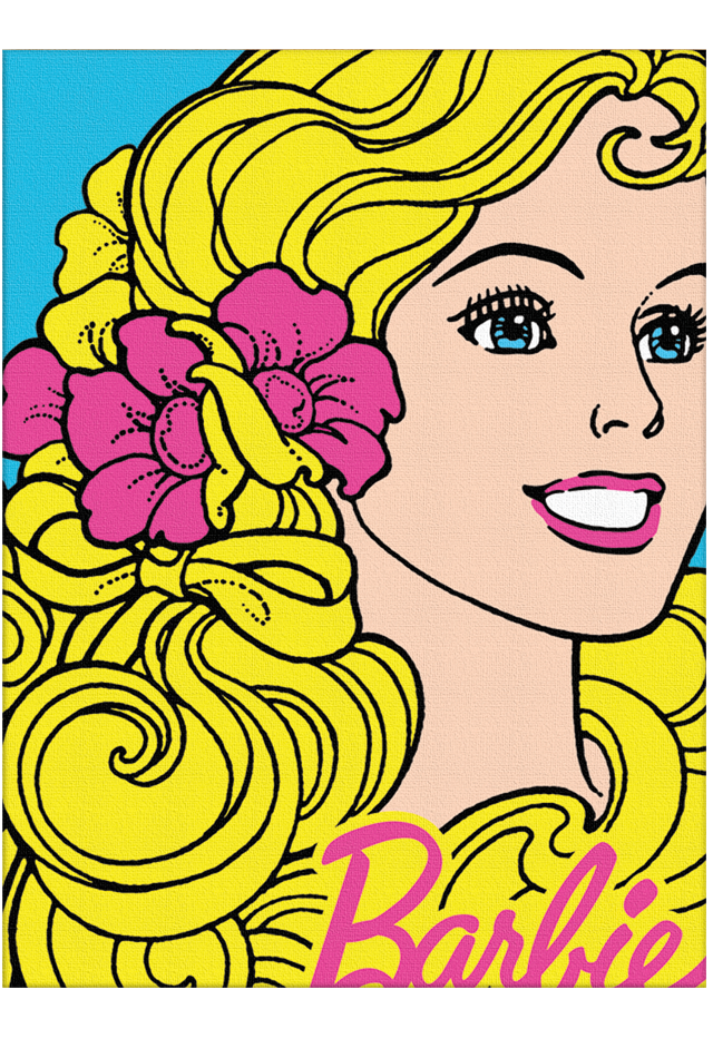 Barbie Art Prints Pop Art of Malibu Barbie