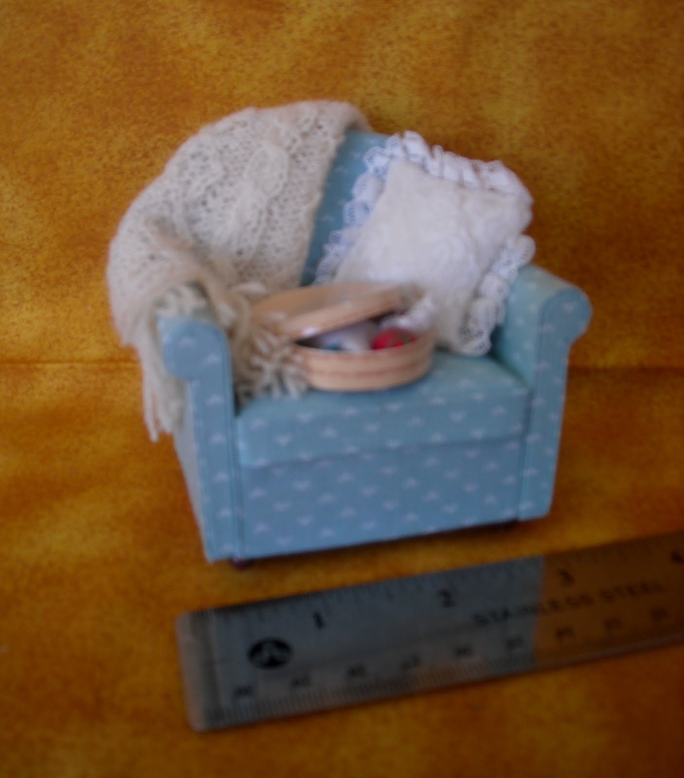 Old Days Old Ways Mniiatures Monday Tiny Armchair