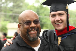 Saul Burleson (right), MDiv 09, with Myron McGhee, MDiv 95.