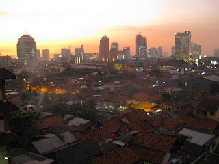 Sunset over Jakarta, Indonesia. Photo by Gretchen Van Ess