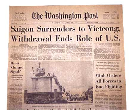vietnam war april 30th 1975 essay Read the time essay that advocated for the vietnam war  after the end of the cold war, another time essay revisited the idea,  signifying the fall of south vietnam, on april 30, 1975 ap.