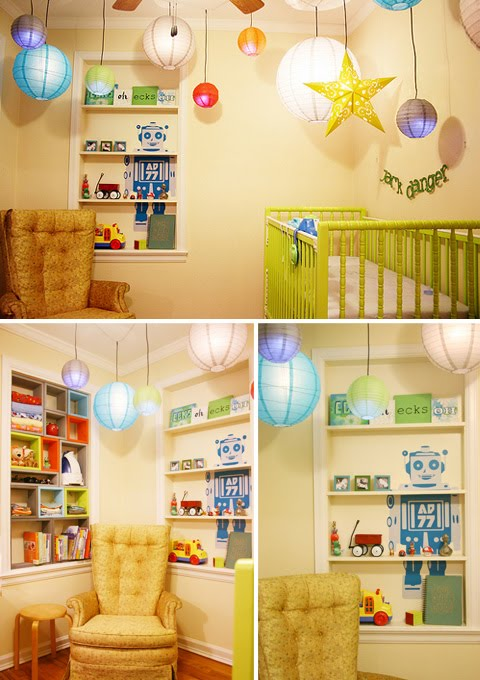 Design inspiration baby blog robots nurseries baby for Robot baby room decor