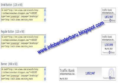 kode html widget alexa di blog