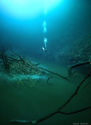 foto sungai dalam laut