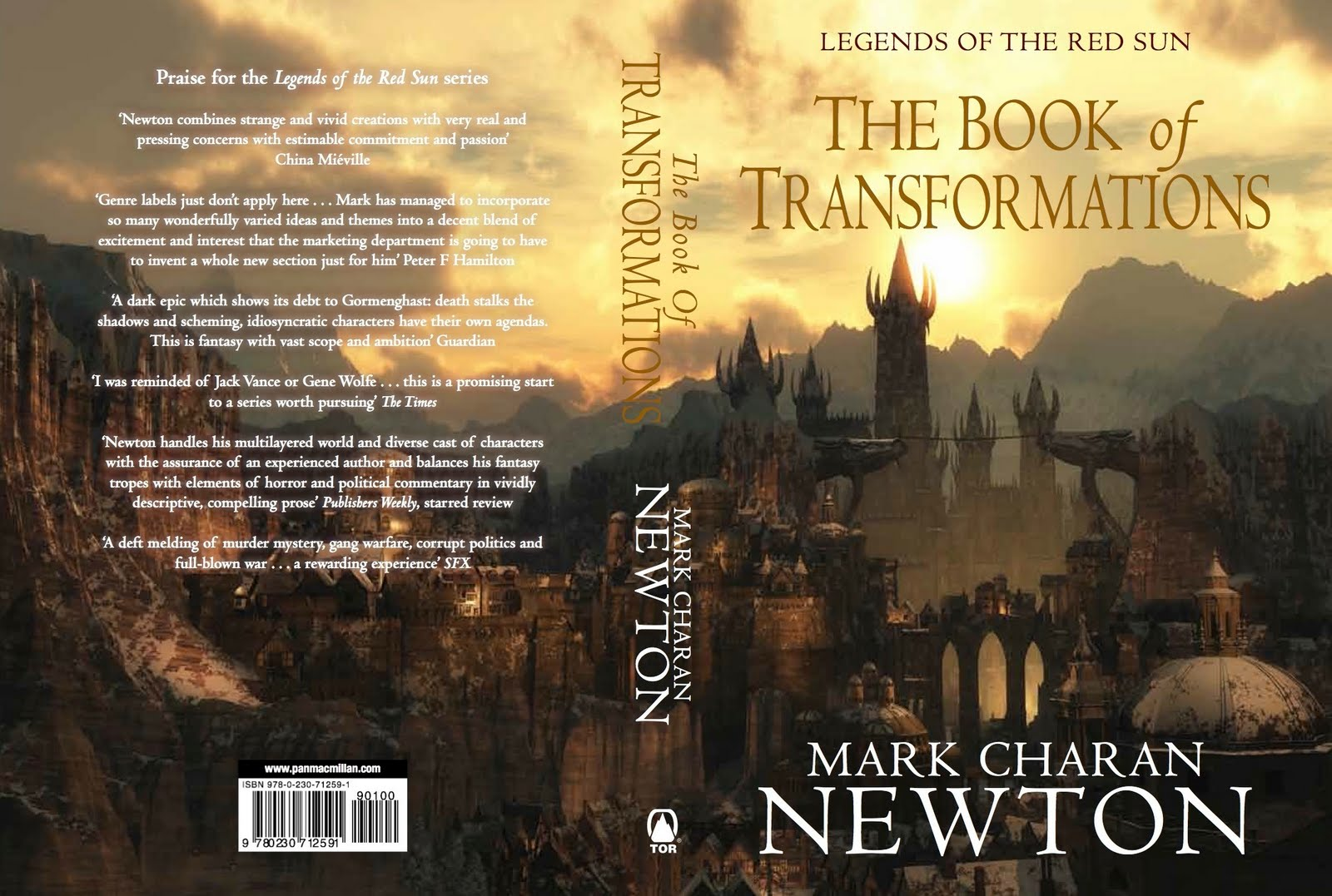 New Cover Art For Mark Charan Newton's Book Of Transformations