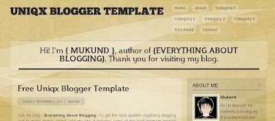 uniqx-blogger-template