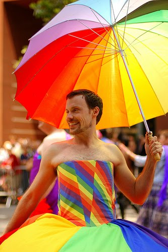 Image result for pride rainbow man naked