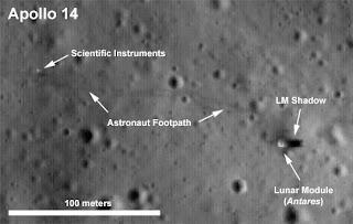 Ampliación de la zona de aterrizaje del Apollo XIV