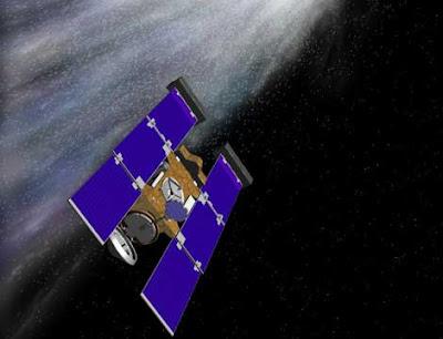 Sonda Stardust atravesando la cola del cometa Wild 2
